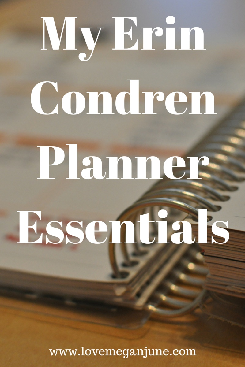 My Erin Condren Planner Essentials
