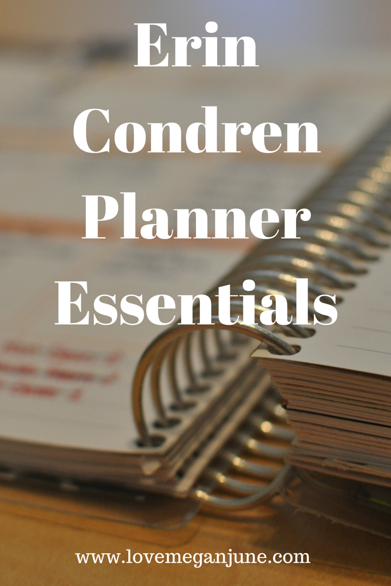 Erin Condren Planner Essentials