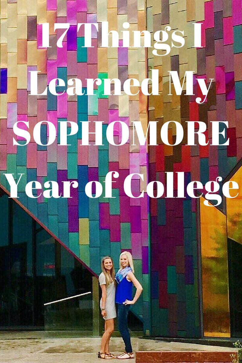 17 Things I Learned my Sophomore Year of College