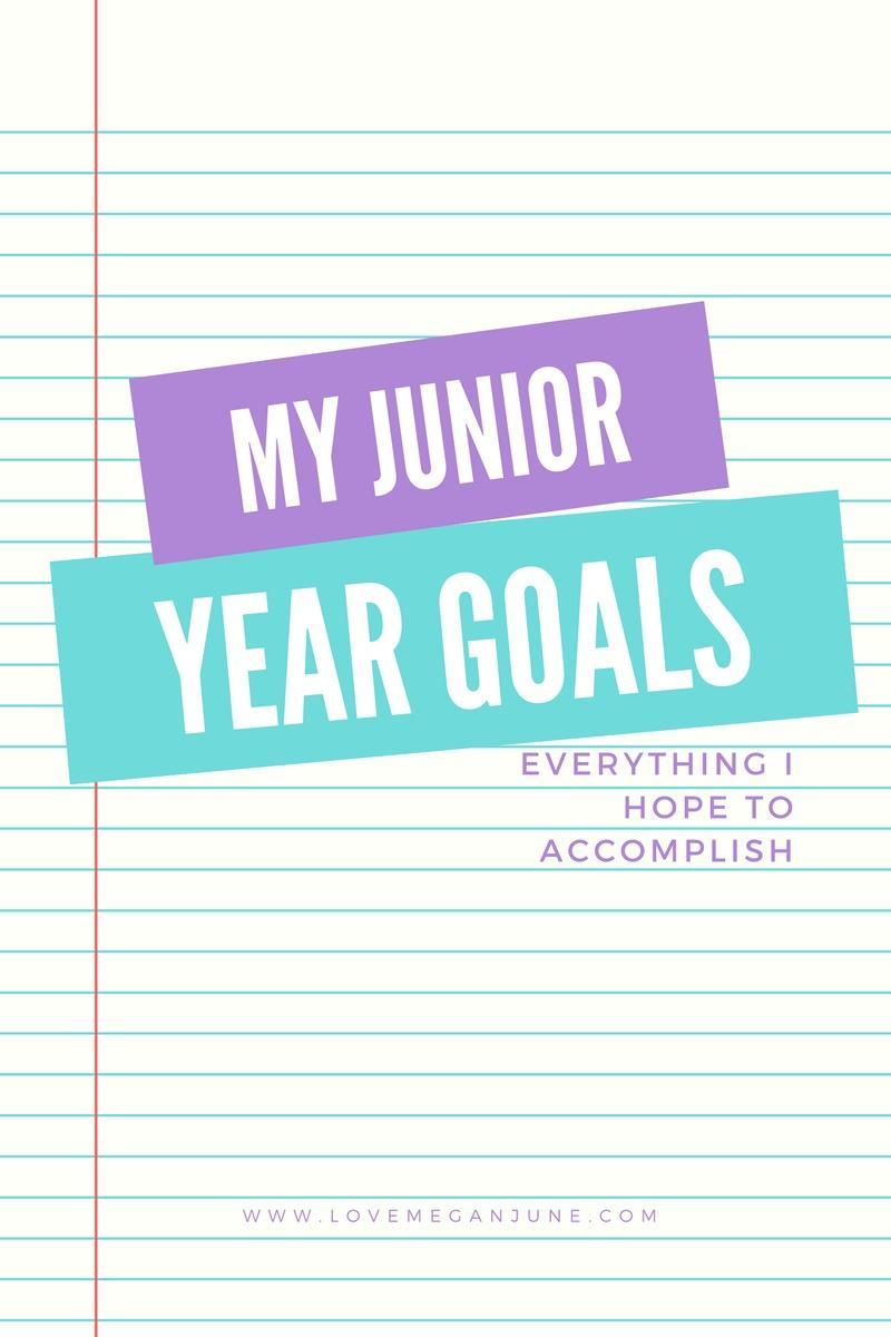 My junior year goals